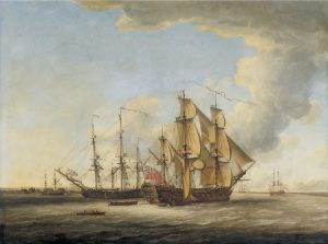 john_cleveley_the_elder_-_two_british_men-o-war_among_ather_ships_in_an_estuary